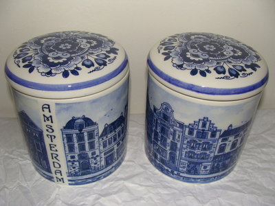 Delft Blue Canister Amsterdam
